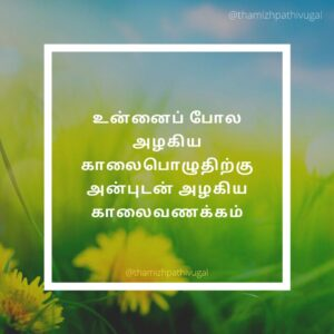 alagiya kalai poluthu - morning quotes